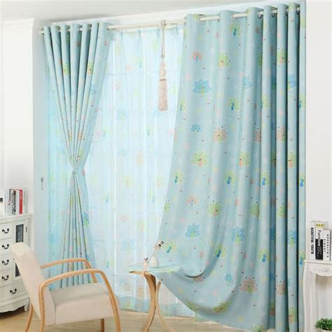 Blue Curtains For Nursery Peacock Insulated Blue Or Pink Curtains For Nursery