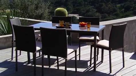table et chaise resine tressee oogarden salon de jardin lugo