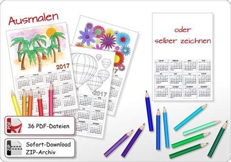 Kalender Basteln Vorlagen Ausmalen Jahreskalender Monatskalender 2017
