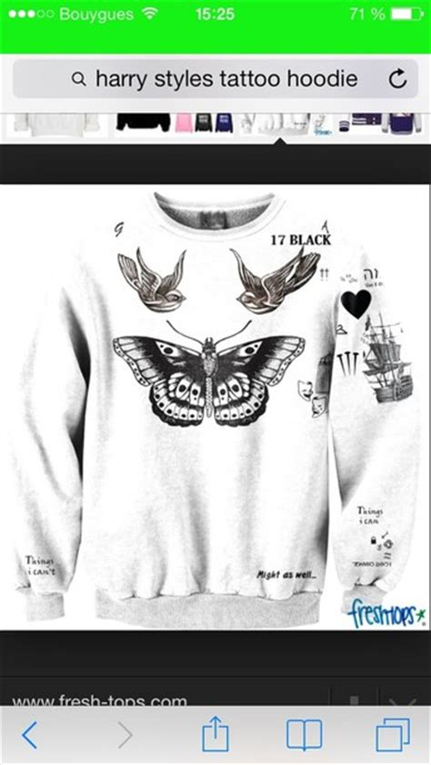 harry styles tattoo sweater fresh tops sweater harry styles tattoo hoodie harry styles wheretoget