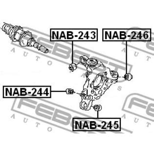 Bushing Arm Besar Nissan Teana J31 febest 2008 nissan altima suspension knuckle bushing febest nab 244 oem 30680715