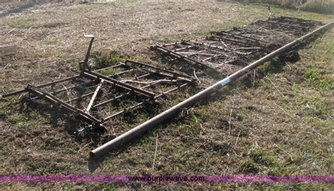 section harrow four section drag harrow no reserve auction on wednesday