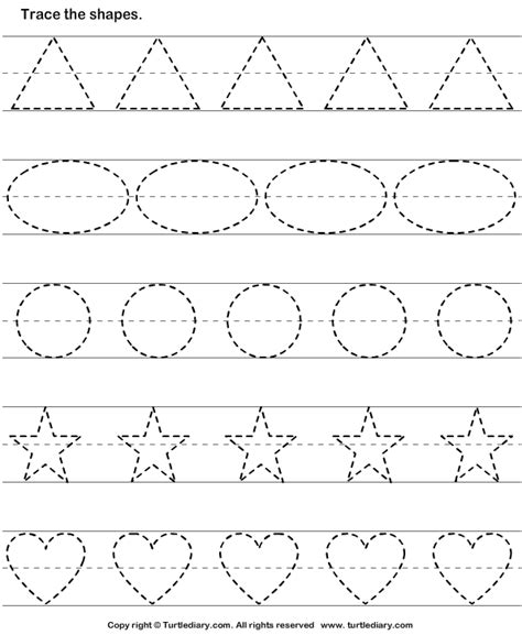 shape tracing templates and print turtle diary s tracing basic shapes