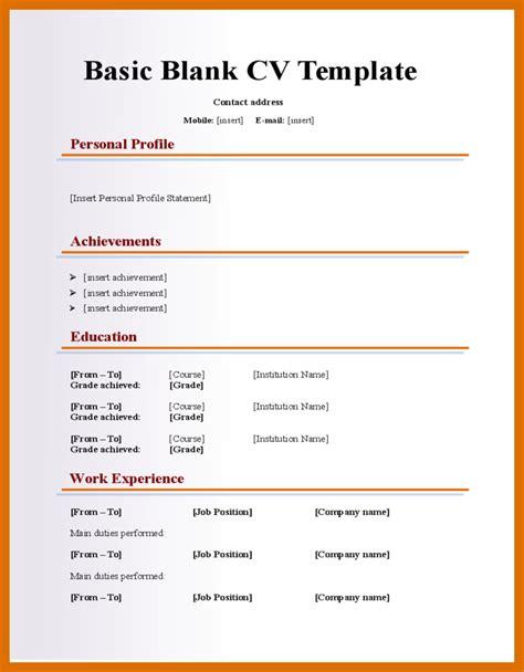 5 6 blank resume template microsoft word formatmemo