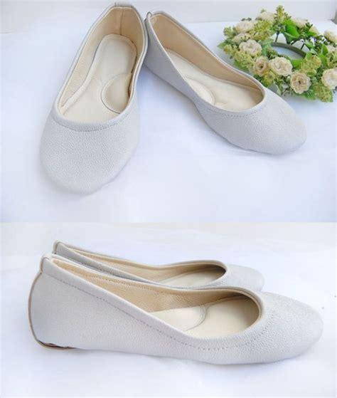 white leather ballet flats bridal ballerina shoes custom made