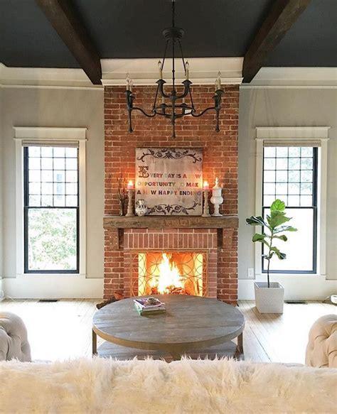 mantel brick fireplace reclaimed brick 25 best ideas about farmhouse fireplace on
