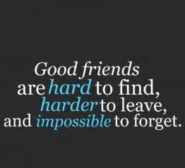 Friend quotations a good friend hard to find good friend