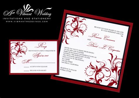 wedding invitation design red black and red wedding invitation a vibrant wedding
