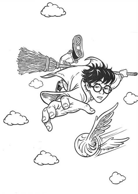 harry potter coloring pages snitch harry potter catching snitch coloring page netart