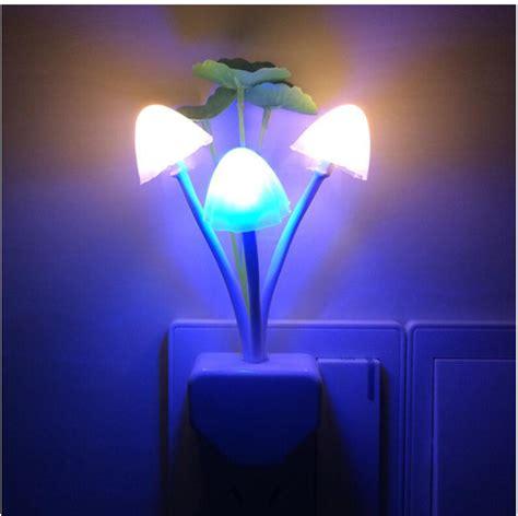 silver leaf night light eu us plug led l romantic mushroom lotus leaf night