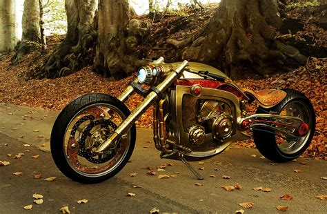 gold motorcycle seraphim golden motorcycle by mikael lugnegard