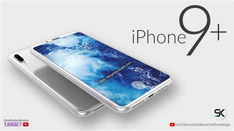 apple iphone 9 plus look concept trailer with in display fingerprint scanner phone