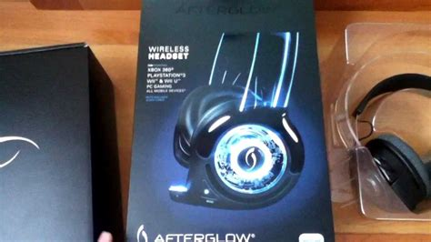 pdp afterglow headset unboxing review setup wii  wii xbox  ps pc headset youtube