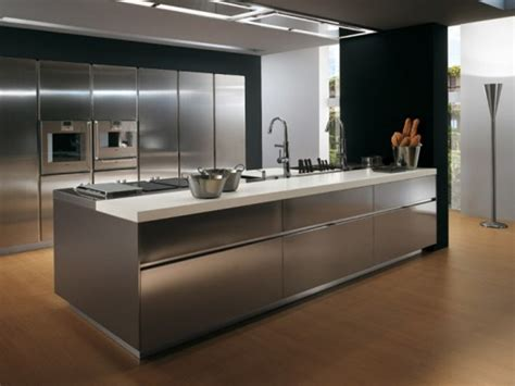 Metal Kitchen Furniture by 4 Great Materials For Your Kitchen Cabinets Kaodim