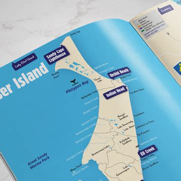 printable map hervey bay map design for fraser coast tourism events jen