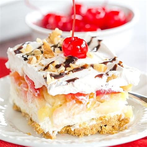 No Bake Banana Split Cake No Bake Banana Split Cake Dessert