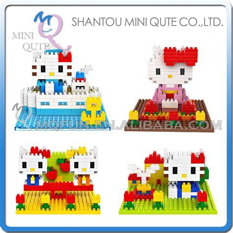 Lego Loz 9406 9408 mini qute 4 styles selectable 3d kawaii hello loz block plastic cube building