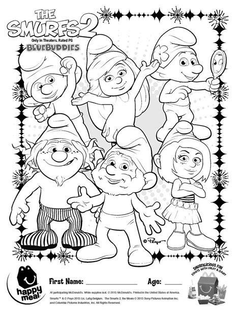 Smurfs Coloring Pages by Smurf Coloring Pages Coloring Home