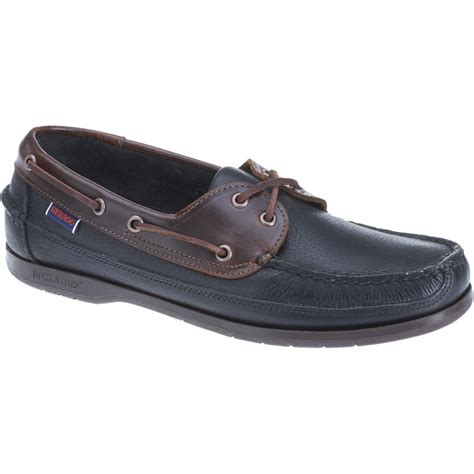 new mens sebago black brown leather schooner boat shoes