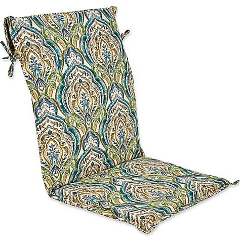 Outdoor Sling Back Chair Cushion in Avaco Blue   Bed Bath