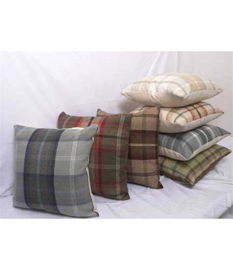 Big Cushions by Cushions Large Highland Mist Tartan
