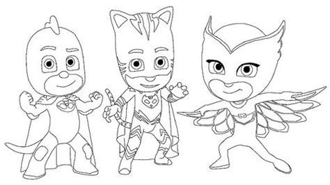 imagenes para pintar heroes en pijama dibujos de pj masks im 225 genes de h 233 roes en pijamas para