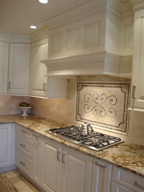 classis mantle design transitional kitchen