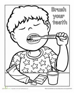 words to live by brush your teeth worksheet education com