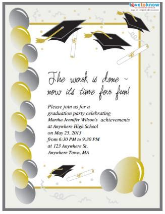 make free graduation invitations to print 2 free printable graduation invitations lovetoknow