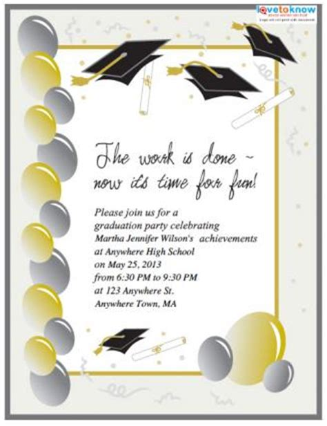 graduation invitations templates free free printable graduation invitations lovetoknow