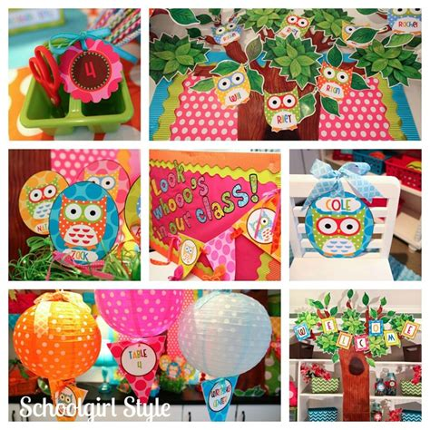 owl theme the best classrooms of 2012 by schoolgirl style color