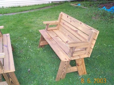 how to make a bench out of pallets picnic table plans how to make a picnic table out of