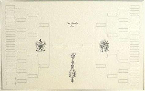 blank family tree  chart  decorative artwork