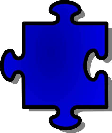 jigsaw blue puzzle piece clip art at clker com vector