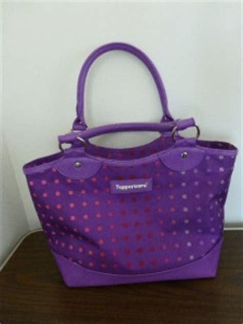 Tupperware Silver Tote Bag tupperware purple polka dot insulated lunch bag ebay