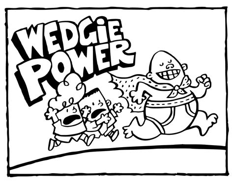 captain underpants coloring pages wedgie power get