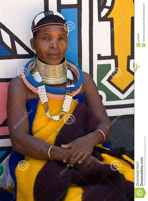 House Design Styles In South Africa Ndebele Woman Editorial Stock Image Image 5440029