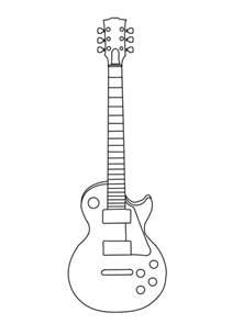 guitar outline clipartion com