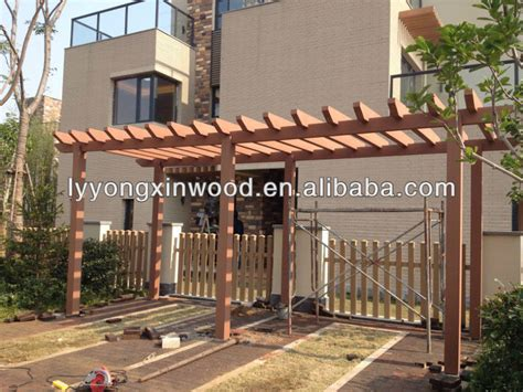 Promotional Sale Composite Wooden Canopy Outdoor Synthetic Price Of Pergola