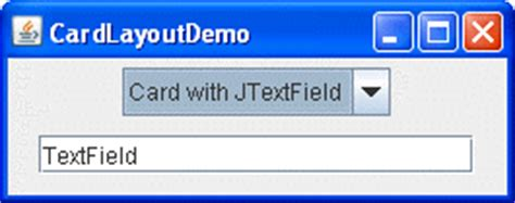 card layout java gui how to use cardlayout the java tutorials gt creating a