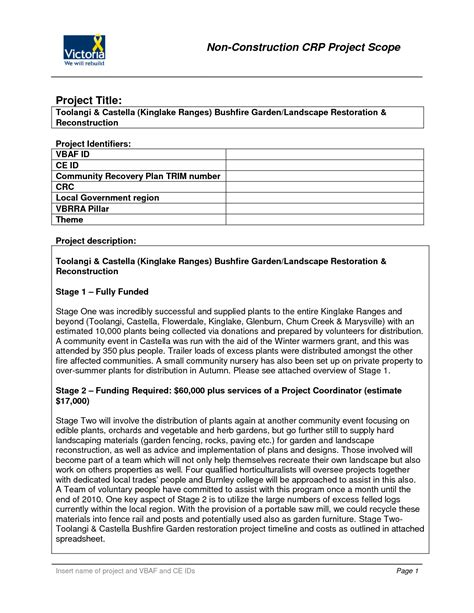 project scope document template best photos of sle project scope statement template