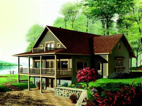 walkout basement home plans lake house plans walkout basement lake house plans lake