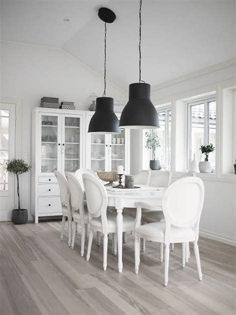 Dining Room Lighting Ikea Ikea Hektar Large Pendant Ls And Hemnes Glass Door Cabinets The Gorgeous Dining Room