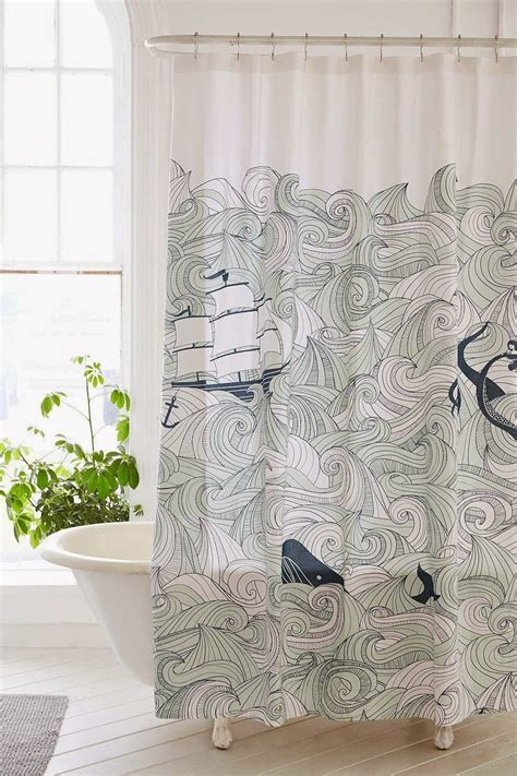urban outfitters whale shower curtain how to infuse the ocean into your summer decor