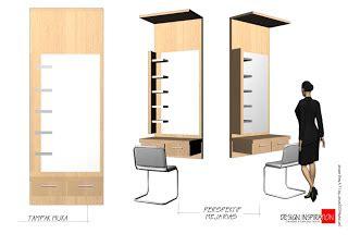 Cermin Meja Rias Kotak A kotak interior meja rias
