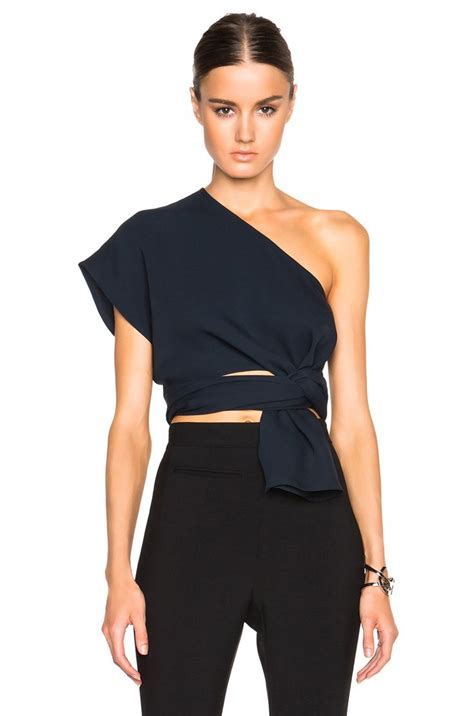 Feto One Shoulder Top In Navy 25 best ideas about one shoulder on one
