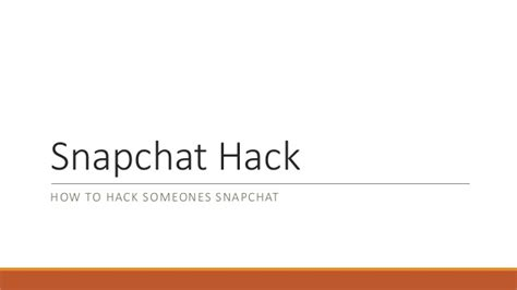 is it possible to hack someones snapchat snapchat hack how to hack someones snapchat account for