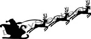 santa sleigh and reindeer silhouette santa on his sledge new calendar template site