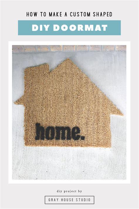 diy doormat gray house studio