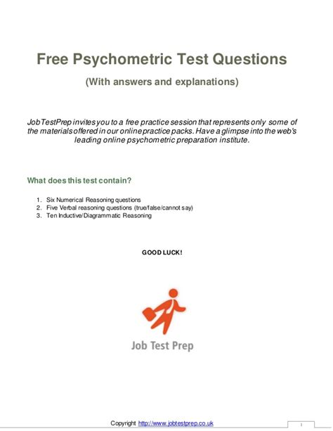 free psychometric test questions and answers